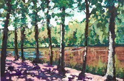 Riverboat Glimpses by Timmy Mallett -  sized 12x8 inches. Available from Whitewall Galleries